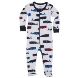 Hatley - Boy Whales Infant Footed Coveralls
