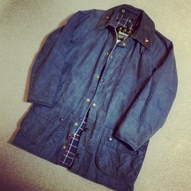 Barbour - Beaufort Navy 80's Vintage