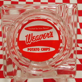Fire King - Weavers Potato Chips Ashtray