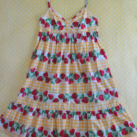 Emily Temple Cute - Strawberry Gingham JSK