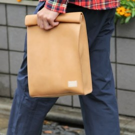 MIN-NANO - MIN-NANO×PORTER LEATHER LUNCH BAG