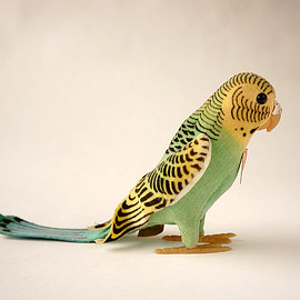 steiff - budgerigar hansi/germany 1950-60s
