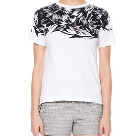 JASON WU - White Printed Jersey Botanical Tee