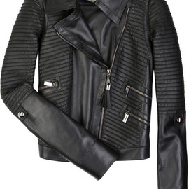 CELINE - Leather motorcycle jacket