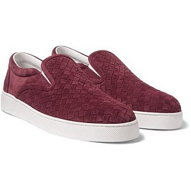 Bottega Veneta - Intrecciato Suede Slip-On Sneakers