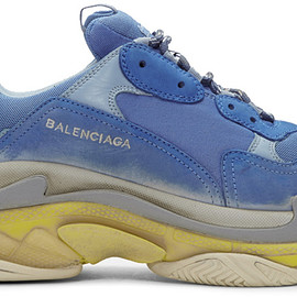 BALENCIAGA - SSENSE Exclusive Blue Triple S Sneakers