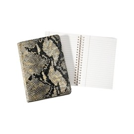 Graphic Image - Wire-O-Notebook, Goldwash Python Leather