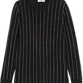 Opening Ceremony - Metallic pinstriped cotton-blend sweater