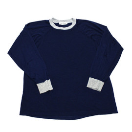 VINTAGE - Vintage 80s Sears Roebuck and Co Navy Long Sleeve Shirt Mens Size Large (Slim Fit)