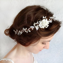 honeycomb - bridal flower headpiece