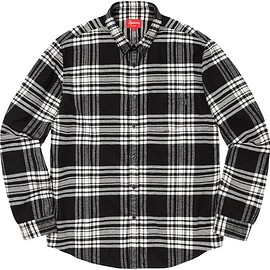 Supreme - Tartan Flannel Shirt Black