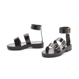 JIL SANDER - Jil Sander Black Strapped Sandals