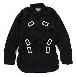 PEEL&LIFT - parachute shirt/black(white buckle)