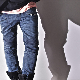 """BALMAIN HOMME - BALMAIN HOMME S/S 2012 """"BIKER STRETCH USED"""" This is new stretch biker pants."""