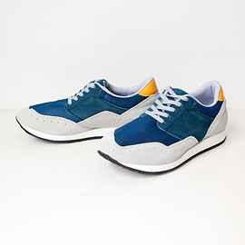 blueover - blue over / Marty nylon & v.suede : navy gray
