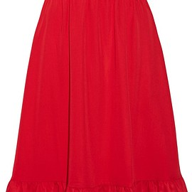 Paskal - Ruffle-trimmed brushed-twill skirt