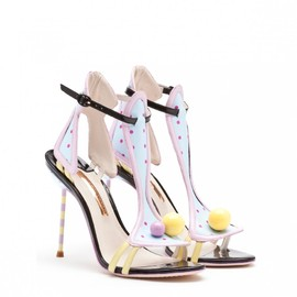 SOPHIA WEBSTER - MOLLIE BLACK AND LILAC LEATHER SANDAL