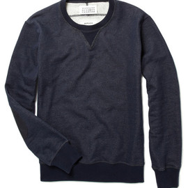 Maison Martin Margiela 14 - REPLICA elbow patch military sweater Indigo /2011-2012AW