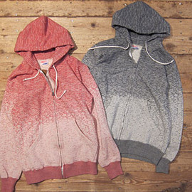 STANDARD CALIFORNIA - SD GRADATION ZIP HOOD SWEAT