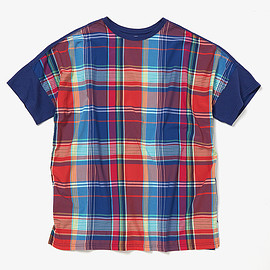 nonnnative - CLERK S/S TEE R/P MADRAS PLAID WITH COTTON JERSEY