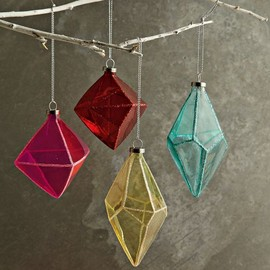 west elm - CONFETTISYSTEM GEO GLASS ORNAMENTS