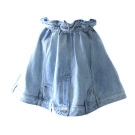 JEREMY SCOTT - PAPER BAG JEAN SKIRT