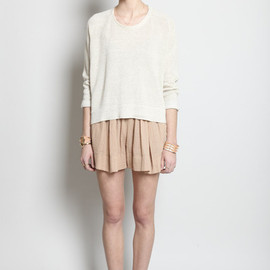 RAQUEL ALLEGRA - Gauze Gathered Shorts