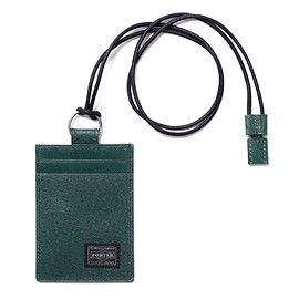 "HEAD PORTER - ""BAILIO"" PASS CASE GREEN"