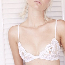 White lace bra.