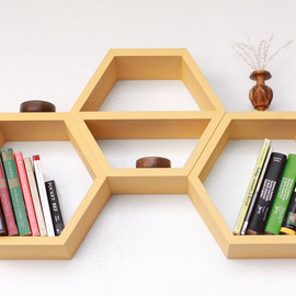 HaaseHandcraft - Geometric Wood Shelf