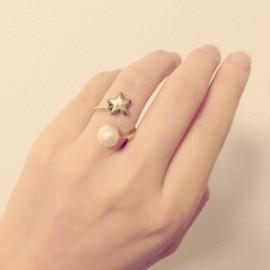 WHITE ATELIER - [再販] 星のTwisted Ring