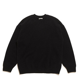 AURALEE - Baby Cashmere Knit P/O-Black