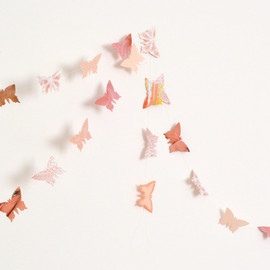 VeraPaperLab - Peach and antique pink paper butterflies