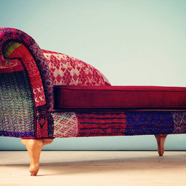 namedesignstudio - Patchwork chaise lounge - Indian Kantha Quilt
