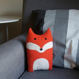 Fox Woodland Forest Plush Stuffed Animal Pillow - Oliver - Made to Order
