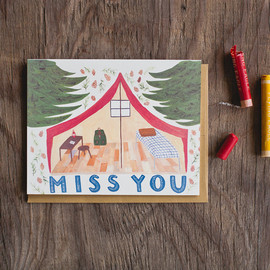SMALL ADVENTURE - Miss You Pup Tent Card