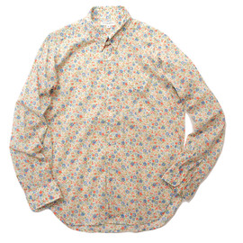 Engineered Garments - Tab Coller Shirt,Blue Floral Print