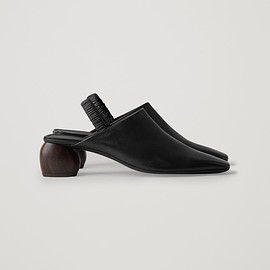 COS - SLING-BACK LEATHER SHOES スリングバックレザーシューズ