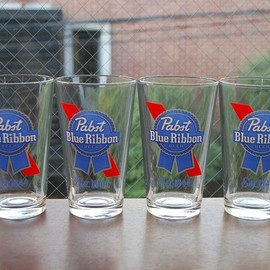 Pabst Blue Ribbon - Beer Glass
