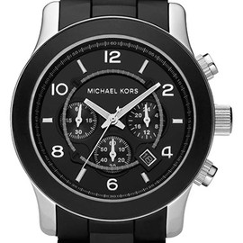 Michael Kors - 'Large Runway Silicone Wrap' Watch, 46mm