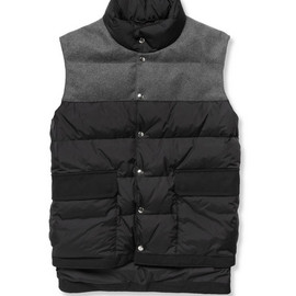 MARNI - Quilted Shell and Felt Gilet