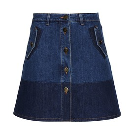 VALENTINO - Cruise 2016 Denim skirt