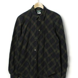 COMME des GARCONS HOMME PLUS - バイアスチェック長袖シャツ