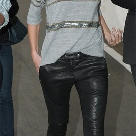 street - leather pants