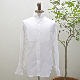 m's braque - dicky front wing-collar shirts white oxford