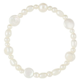 Satya Scainetti & Beth Torstrick - Coin Pearl Stretch Bracelet