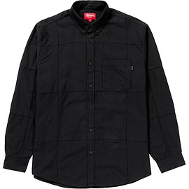Supreme - Patchwork Oxford Shirt Black