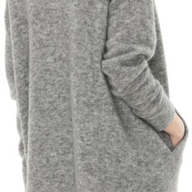 Acne - Raya Long Mohair Grey Melange