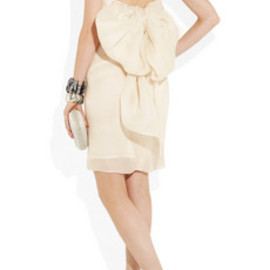 LANVIN - Bow-embellished silk-gazar dress