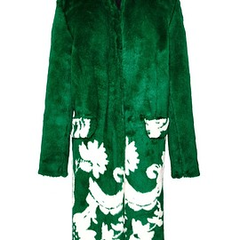 SONIA BY SONIA RYKIEL - FW2015 Jacquard Faux Fur Long Coat